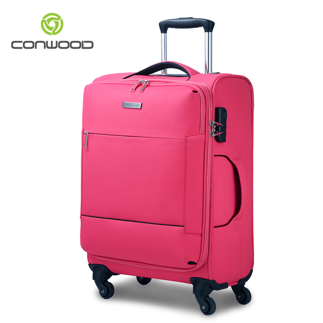 391b5e014424f Conwood FREE SHIPPING 20 24 inch soft shell 4 wheels travel bag travel  suitcase rolling luggage