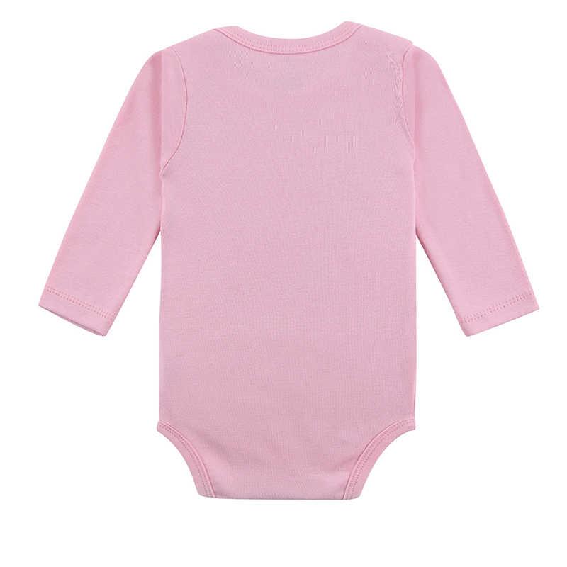 Mẹ Tổ Bé Bodysuit 3 Cái/lốc Cotton Trẻ Trẻ Sơ Sinh 100% Cotton Cơ Thể Bé Dài Tay Trẻ Sơ Sinh Cậu Bé Cô Gái Leo Lên Quần Áo