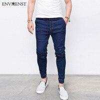 2017 Envmenst Brand Fashion Men S Harem Jeans Washed Feet Shinny Denim Pants Hip Hop Sportswear