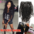 Funky Hair Brazilian Curly Clip In Human Hair Extensions Deep Wave 7Pcs/Set 12-24Inch 70G 100G 120G 140G Available