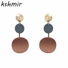 Earrings tassel element contrast color sweet fashion female fashion earrings 2018 delicate eardrop gift jewelry wholesale