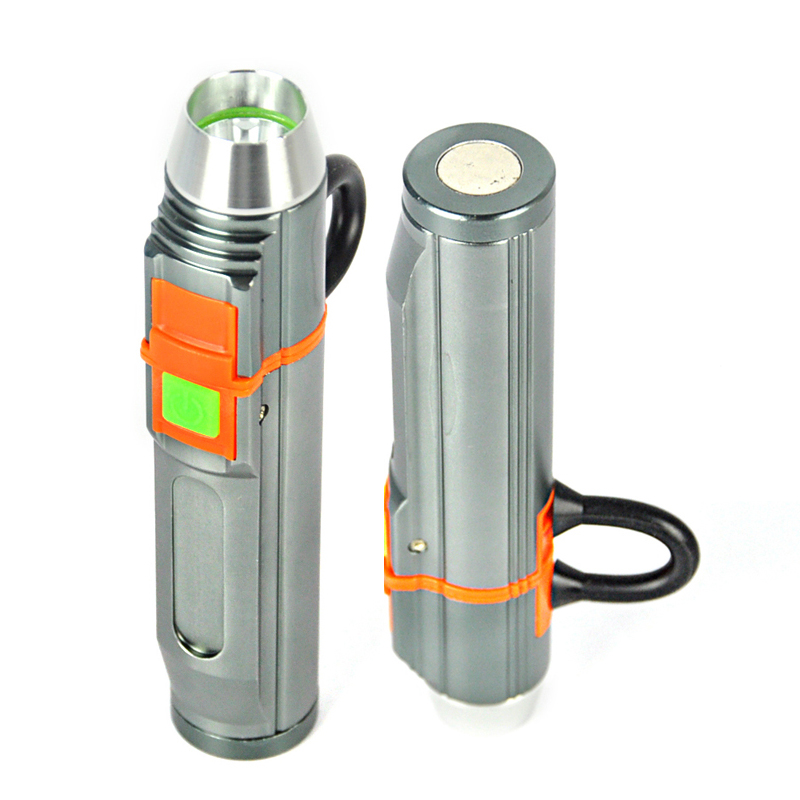 BORUiT Promotion 1000 LM Q5 LED Flashlight Aluminum Alloy 3-Mode Torch USB Rechargeable Flash Light Camping Portable Lantern