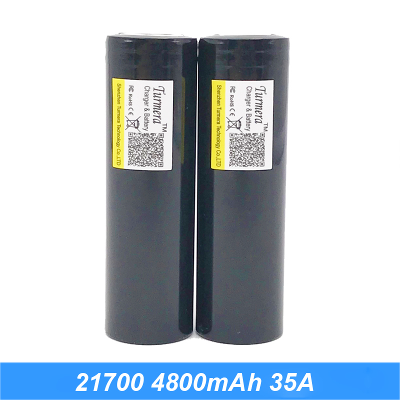 Turmera  21700 Liion-battery 40Amps Original 21700 4800mAh 40A Rechargeable E-Cigarette Battery fits CAPO 21700 batteries AU16