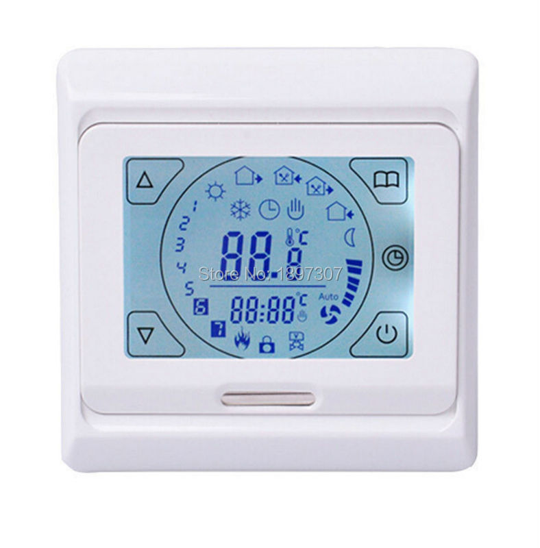 M9(E91) Digital Floor Heating Temperature Controller Touch Screen Display Underfloor Heating Thermostat la mer collections lmsoho1003lak