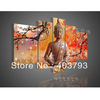 Modern Abstract Wall Art Decor Buddha Feng Shui Canvas Oil Painting Decorative Art Religion free shipping