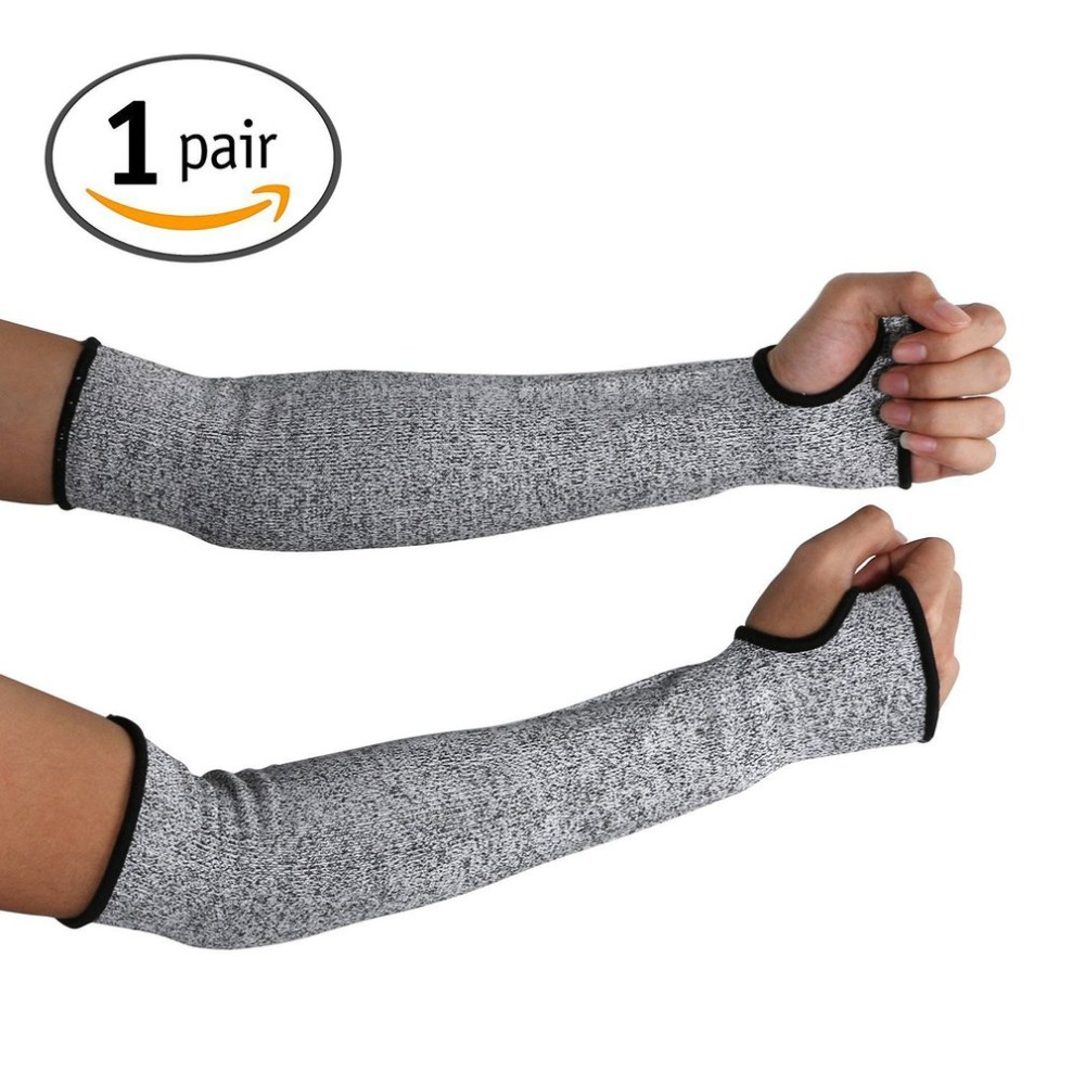 1pair Anti-Cut Gloves Arm Guard Wear-Resistant Work Manufacture Protective Nylon Sleeves Protective Gloves