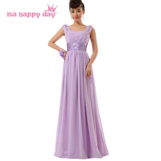 robe de mariage country style 2019 long formal v neck chiffon lavender bridesmaid  gowns beautiful bridemaids d1f6f42ca894