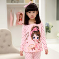 Girls Pajamas Set Long Sleeve 100% Cotton Pajamas Sets for Girls Cute Cartoon Pink Good Quality 3 to 12 years big girls pajama