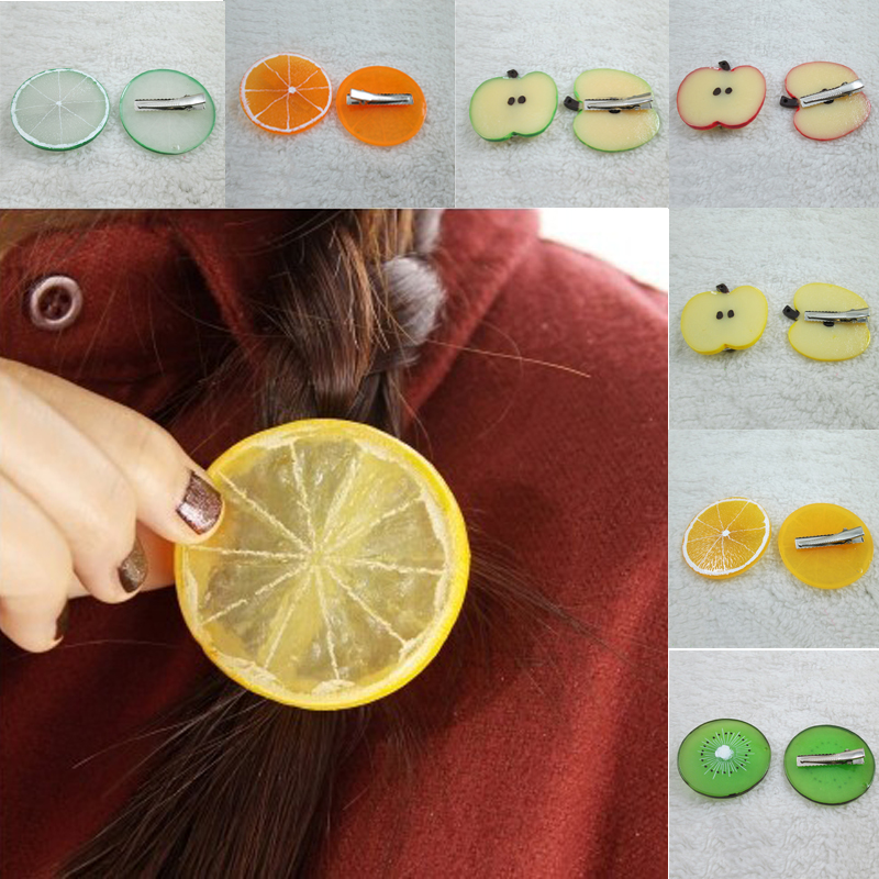 New 1 PC 16 Shapes Women Fashion Cute Fruit Hair Rope Hair Clip Elastic Hair Band