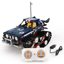 Yeshin 13025 13026 626Pcs Remote Control Car Series The 20011 Blue and Green Off-road Vehicles Building Blocks Bricks Kids Toys(China)