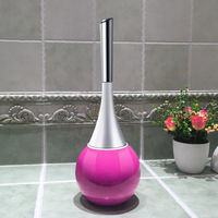 Creative Brush Bathroom Toilet Scrub Brush Clean Brush Holder With Stainless Steel Base Clean The Toilet