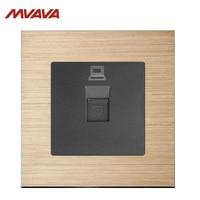 MVAVA RJ45 Outlet Computer Jack Plug Port Wall Socket PC LAN Data Receptale Luxurious Alumimum Brushed