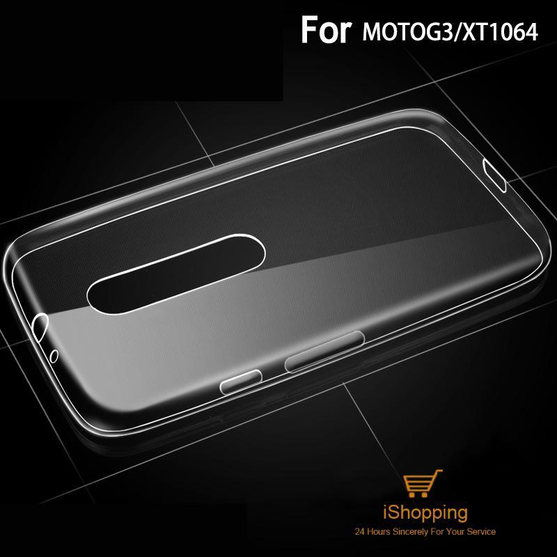 Ultra Thin Transparent Clear TPU <font><b>Case</b></font> For Motorola <font><b>MOTO</b></font> <font><b>G3</b></font> XT1552 XT1540 Crystal Back Cover Silicone Gel Mobile <font><b>Phone</b></font> Bags