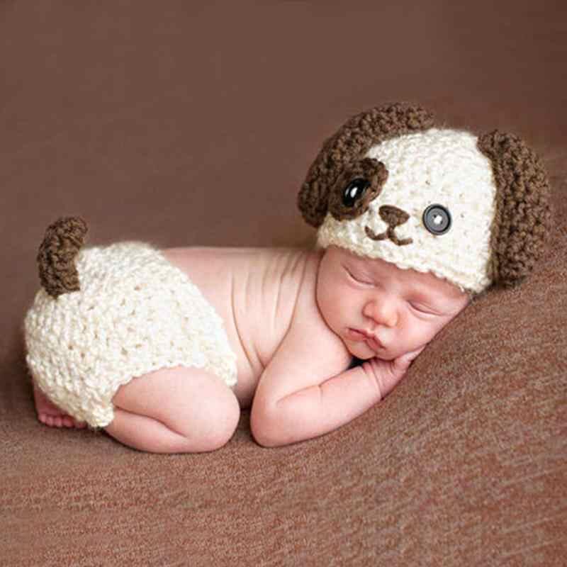 Newborn Baby Boys Girls Dog Crochet Knit Cap Costume Photo Photography Prop  Newborn Photography Accessories Baby fbfd17ca3c60