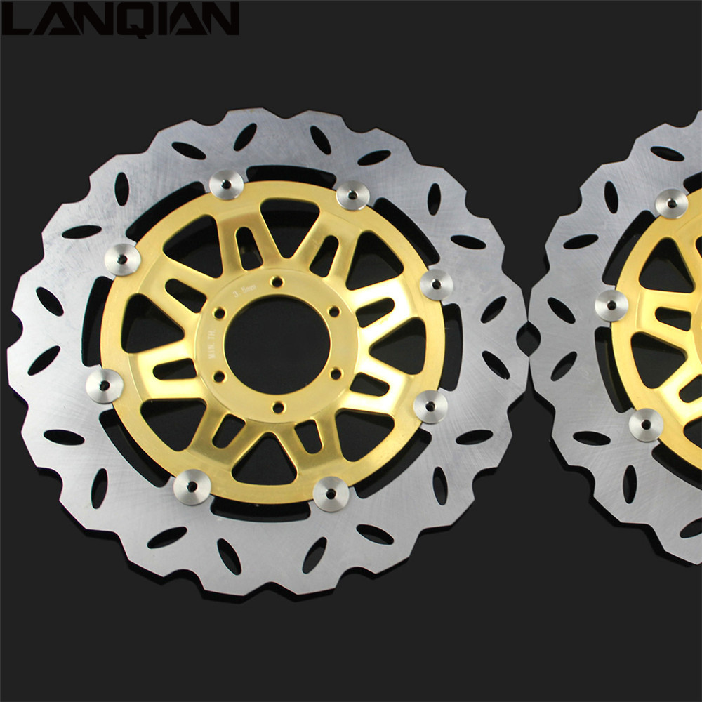 2PCS Motorcycle accessories Front Floating Brake Disc Rotor For Honda CB400 1992 1993 1994 1995 1996 1997 1998  CB 400 2 pieces motorcycle front disc brake rotor scooter front rear disc brake rotor for honda cb400 1994 1995 1996 1997 1998