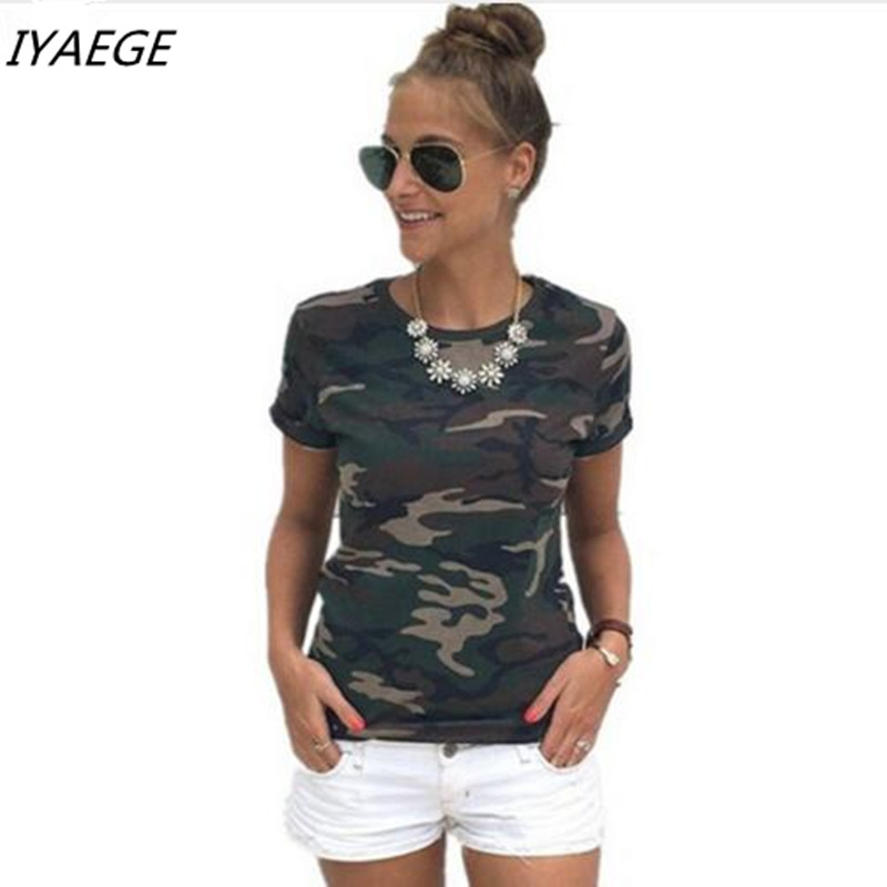 2017 Summer T-shirt female blusa tumblr camouflage prints tops & t short sleeves women t shirt military uniform casual top tees