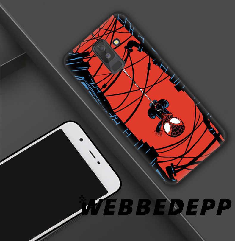WEBBEDEPP Spider Man Para o Aranha Verso Capa de Silicone Macio para Samsung Galaxy A9 A8 A7 A6 Plus 2018 A5 a3 2017 2016 Nota 9 8