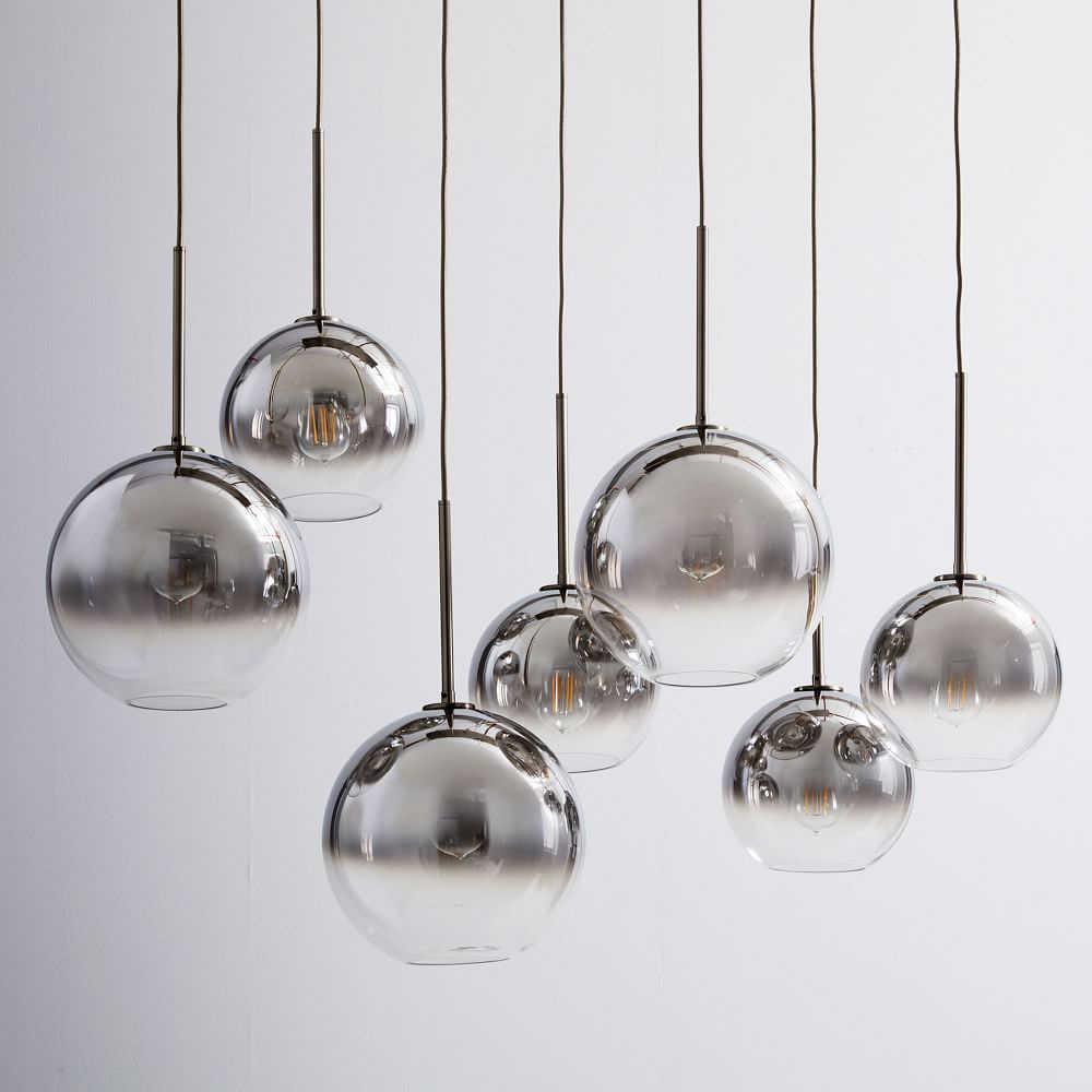 Современная, в виде стекляного шара подвесной светильник градиентная расцветка; Высота Подвесная лампа, подвесной светильник кухонный светильник закрепленный обеденный Гостиная светильник