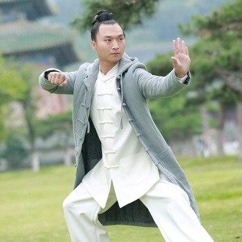Top Grade Chinese Tai chi Coat Cotton Winter Wudang Kung fu Jacket Shaolin Monk Tops Wushu Martial arts Clothes for men women knitting