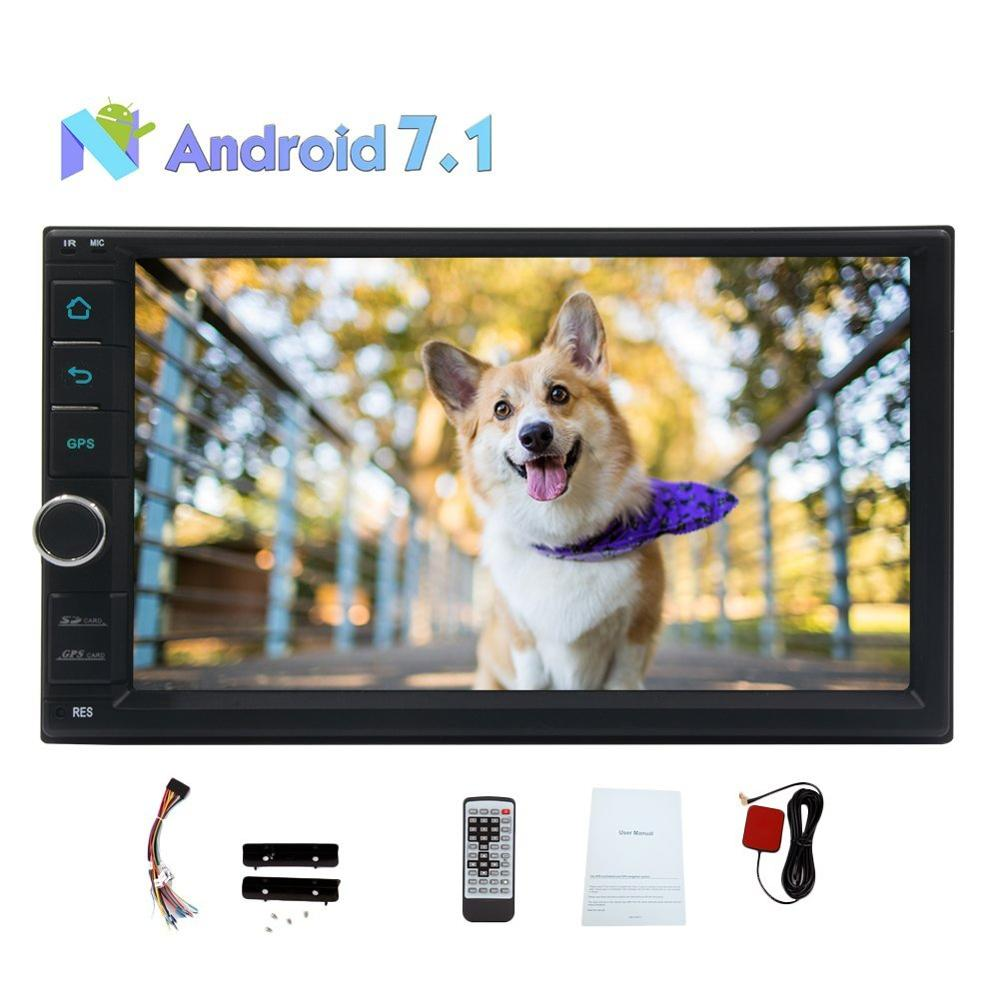Android 7.1 Car Stereo 2Din Head Unit Octa core 7'' GPS Navigation In Dash Wifi Internet AM/FM Radio Bluetooth Microphone USB/SD