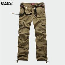 BOLUBAO New Men Cargo Pants Men Multi Pockets Pants Military Camouflage Track Pants Trousers Mens Elastic Waist Pant