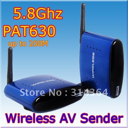 2pc/lot AV Sender Wireless Transmitter Receiver 200m,av sender and receiver,5.8ghz wireless av sender,Free Shipping,PAT 63 сумка женская милитари