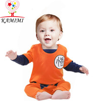 Hot Dragon Ball Goku Outdoor Rompers WuKong Spring Summer Practicing Cotton Jumsuit For 0 2 Year