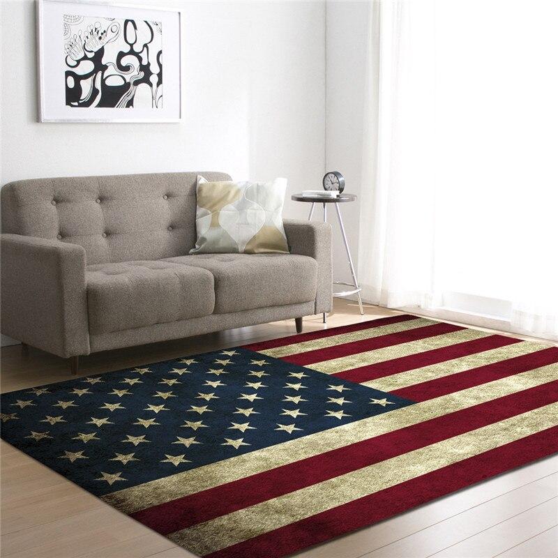Tapis noirs imprimés par drapeau National pour la pièce de literie de salon grands tapis de zone de Rectangle tapis extérieurs modernes de plancher décor à la maison