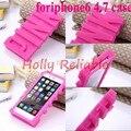 Estilo de la manera de goma suave case para iphone 7 6 6 s 4.7 pulgadas 3d letras rosadas cubierta del teléfono móvil para iphone6 case wholesale 10 unids/lote