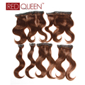 "6Pcs/Set 8A Brazilian Virgin Hair Body Wave Dark Brown Body Wave Human Hair 12"" Brazilian Body Wave Clip In Extensions Clip In"