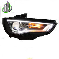 EN Car Style LED headlights For Audi A3 2014 2016 for A3 head lamp LED DRL Lens Double Beam H7 HID Xenon bi xenon lens