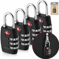 TSA Approved 3 Dial Digit Password Security Combination Padlock Suitcase Luggage Code Lock Mini Coded Keyed Anti-Theft Locks New