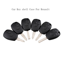 цены 2/3 Buttons Key Case For Renault Duster Modus Clio 3 Twingo DACIA Logan Sandero Keys Fob Remote Shell Replacement