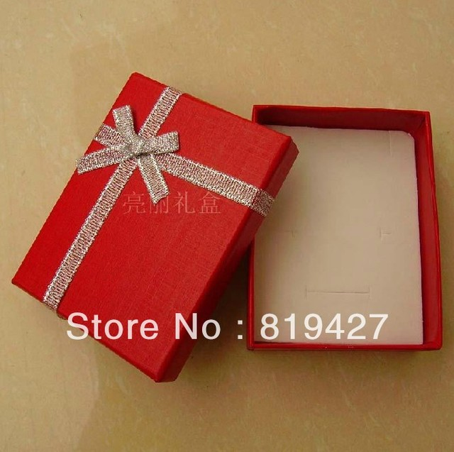 Pearl Red color cute Jewelry Packaging Paper Gift Box for Earrings