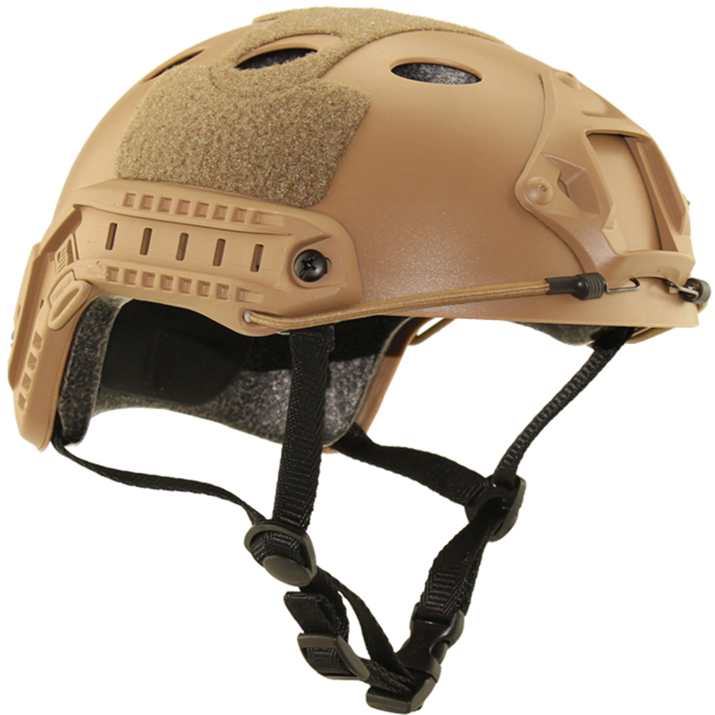 ФОТО Tactical Cycling CS Pistol Sport Helmet Fast-PJ Special Vision Helmet Airsoft Paintball Base Jump Military Outdoor Safey Helmets