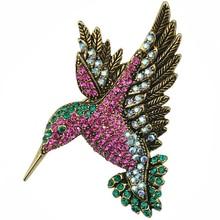 Bonito Strass Pica Animais Grandes Broches Pinos Para As Mulheres de Cristal Acessórios de Vestuário Broche Moda de Presente Da Jóia XZ036