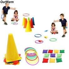 OurWarm 26 шт. Детские садовые игры, игры на открытом воздухе с кольцом, сумки для бобов, карнавальные игры, вечерние игрушки на день рождения, дет...
