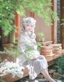 Desgaste diário YUSHENGYAN Dinastia Han Estilo Tradição Chinesa Vestido de Fadas Kei Mori Menina Do Vintage Cintura Alta Long/Short