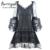 Burvogue corset steampunk retro vestido de corsé de encaje tops control bustiers y corsé de la cintura de las mujeres vestido de encaje