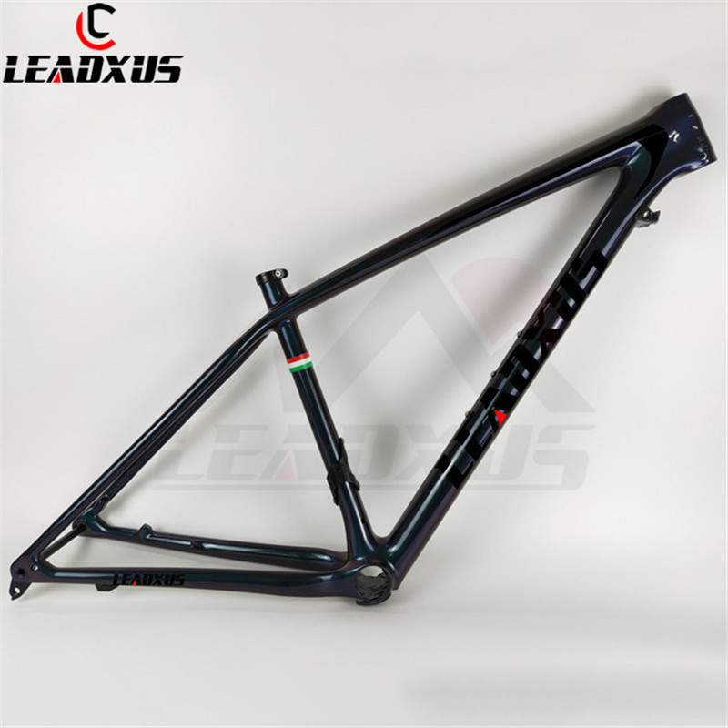 LEADXUS CLA350 Only 850g Chameleon 27.5/650B 29 MTB Frame T1000 Carbon Fiber Mountain Bike Frame+Clamp+Headset+Thru Axle