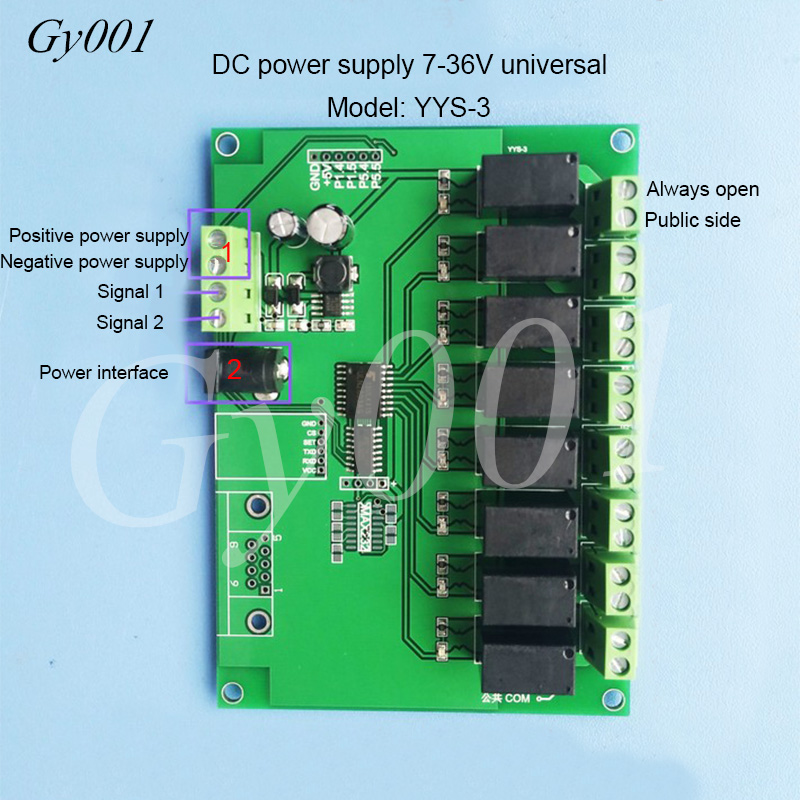 Programmable Timing Board Of 8/8 Relay Module PLC Cyclic Sequential Start-up Delay Power Supply