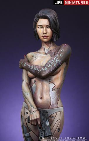 Kit buste en résine 1/12 MIRAI Humanoid Cyborg Assassin A.D.2074