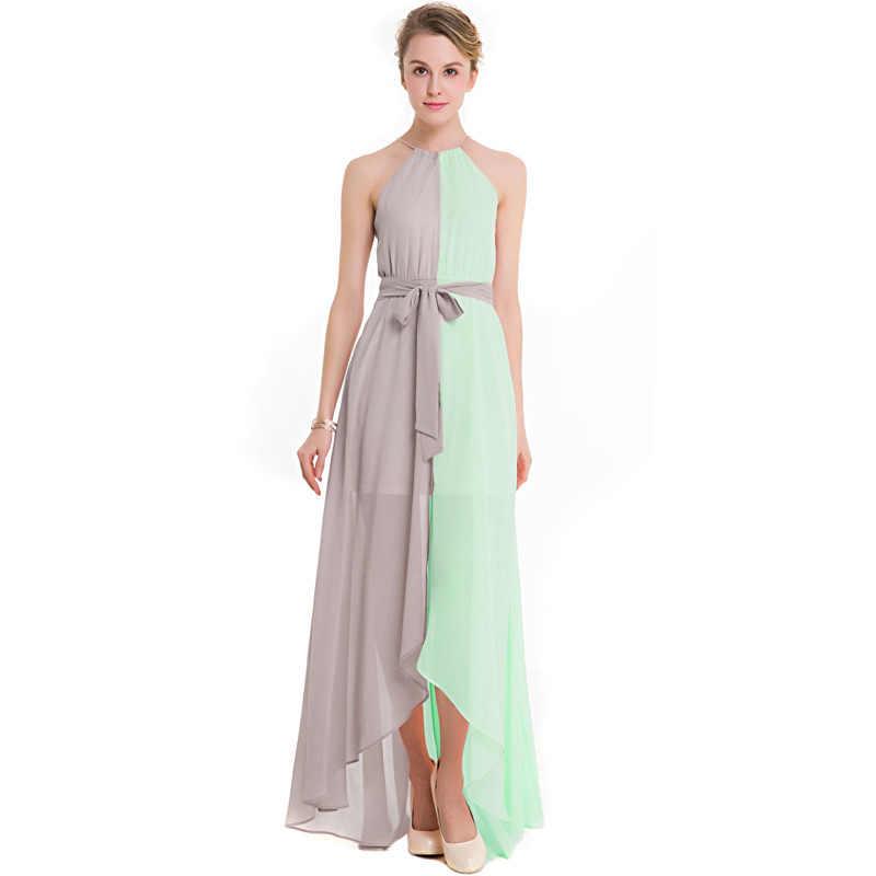 ... Robe De Soiree 2018 New Elegant Off Shoulder Evening Dresses Fashion  Halter High Low Beach Wedding 14cb2c8dffe0