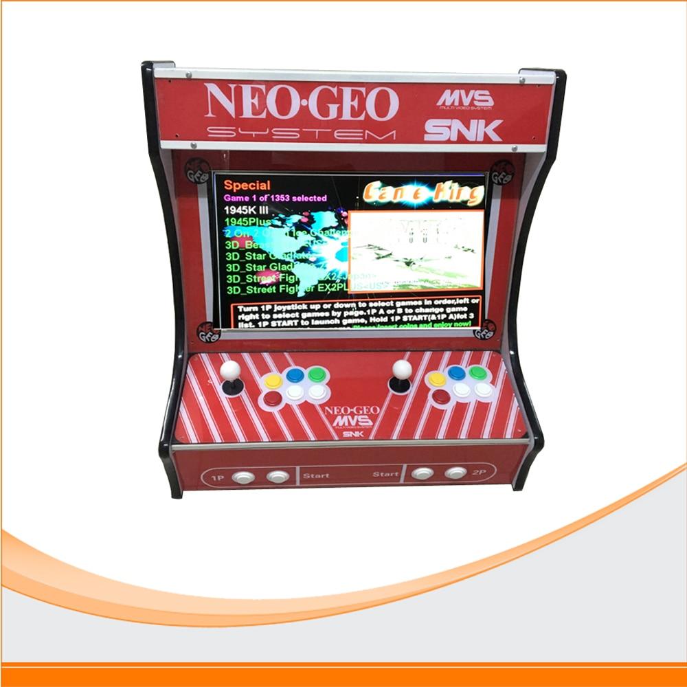 SNK Mini Household game machine use 2100 in 1 board ,SANWA joystick and button Arcade Game Machine sanwa button and joystick use in video game console with multi games 520 in 1