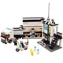 Bloques Playmobil de la estacion policia serie ciudad DIY ladrillos juguetes educativos para nibos regalo Compati