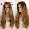 8A Grade 180% Density Human Hair wigs Ombre #4/27# body wave full lace wig Virgin hair glueless wig lace front wig