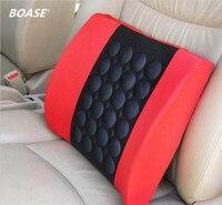 Черный + красный 12 В электрический автомобиль Фон Поддержка массаж талии подушки Бесплатная доставка