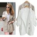 Oversize Mulheres Trench Coats Longos 3XL Fino Virada Para Baixo Casacos de Outono Streetwear Outono Casaco Feminino 2016