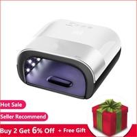 EUSCI SUN3 UV Lamp Nail Dryer 48W UV LED Lamp Nail with Smart Timer Memory Invisible Digital Timer Display Nail Drying Machine