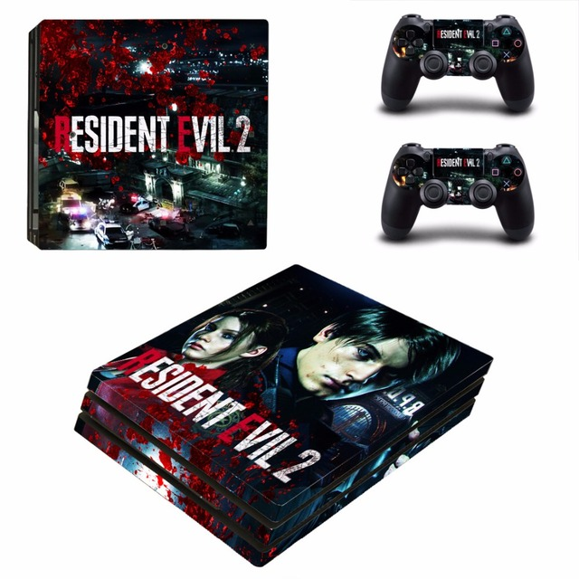 US $9 49 5% OFF|Resident Evil 2 Remake PS4 Pro Skin Sticker For Sony  PlayStation 4 Console and Controllers PS4 Pro Skin Stickers Decal Vinyl-in
